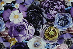 Textil - Teplákovina Fialové kvety digi - 12052596_