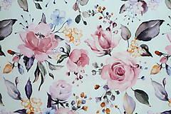 Textil - Teplákovina Maľované ruže digi - 12052618_