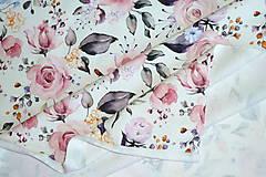 Textil - Teplákovina Maľované ruže digi - 12052621_