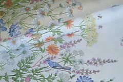 Textil - Látka Lúčne kvety bordúra - 12054278_