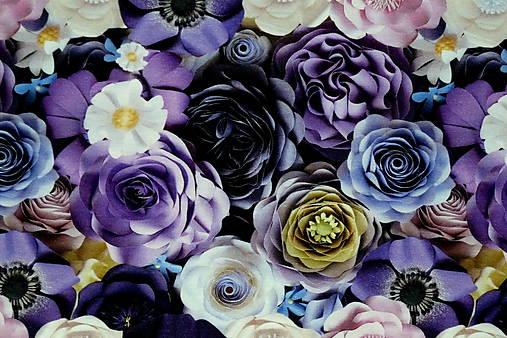 Teplákovina Fialové kvety digi
