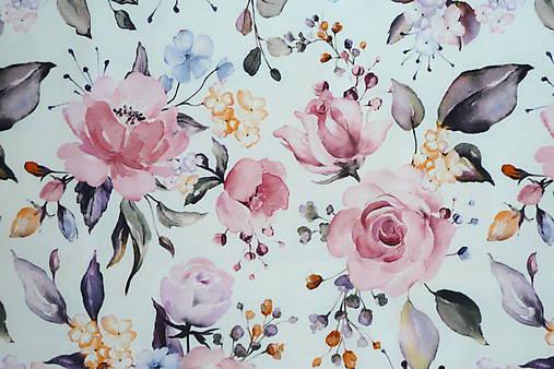 Teplákovina Maľované ruže digi
