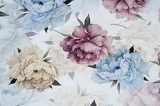 Textil - Teplákovina Farebné pivónie digi - 12052628_