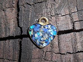 Náhrdelníky - little opal heart II in gold - 12055093_