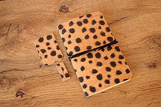 Papiernictvo - Leopard - set: zápisník + záložky - 12054488_