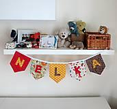 Detské doplnky - Textilná girlanda - lesný motív (chlapčenská/ na želanie) - 12055572_