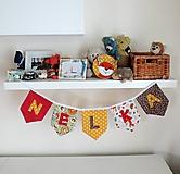 Detské doplnky - Textilná girlanda - lesný motív - 12055579_
