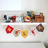 Detské doplnky - Textilná girlanda - lesný motív (chlapčenská/ na želanie) - 12055580_