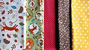 Detské doplnky - Textilná girlanda - lesný motív (chlapčenská/ na želanie) - 12055590_