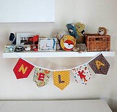 Detské doplnky - Textilná girlanda - lesný motív (dievčenská/ na želanie) - 12055547_
