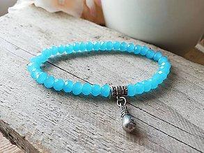 Náramky - Jadeit modrý - 12055471_