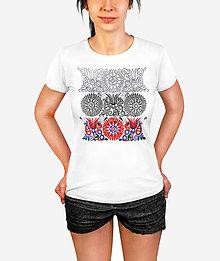 Tričká - Dámske tričko Tri obdobia kvetu - 12052913_