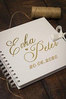 """Papiernictvo - Svadobná kniha hostí """"MY DVAJA"""" ❤ - 12053696_"""
