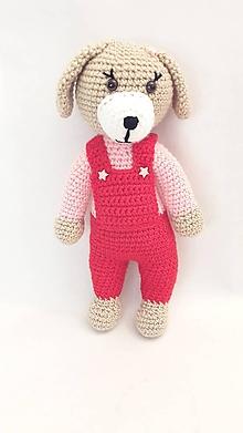 Hračky - psík/pes/ - červeno/ružový - 12055269_
