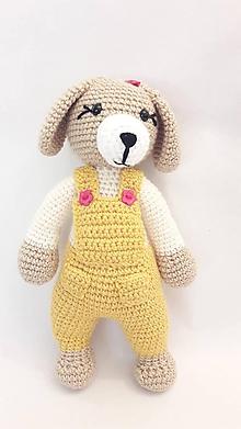 Hračky - psík/pes/ hračka  - žlto/smotankový - 12055291_