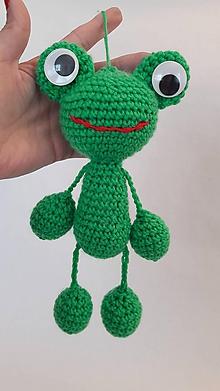 Hračky - žaba-žabka /háčkovaná hračka - 12055422_