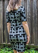 Šaty - Šedá elegancia - mini šaty - 12055107_