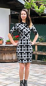 Šaty - Šedá elegancia - mini šaty - 12055108_