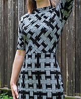 Šaty - Šedá elegancia - mini šaty - 12055133_