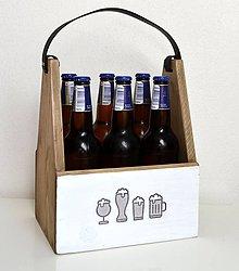 Nábytok - Drevená debnička na pivo - 12055972_