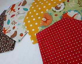Detské doplnky - Textilná girlanda - lesný motív (bez písmenka/ na želanie) - 12055789_