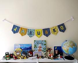 Detské doplnky - Textilná girlanda - včielkový motív - 12055815_