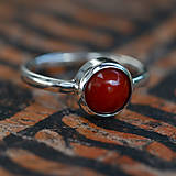 Prstene - Tania low Red Coral - 12056240_