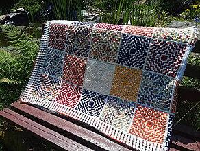 Úžitkový textil - háčkovaná deka - 12056788_