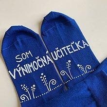 Obuv - Maľované pestrofarebné ponožky pre VÝNIMOČNÚ UČITEĽKU - 12056295_