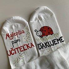 Obuv - Maľované ponožky pre naj PANI UČITEĽKU (lienok) - 12056300_