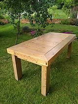 Nábytok - Drevený jedálenský stôl - 12057018_