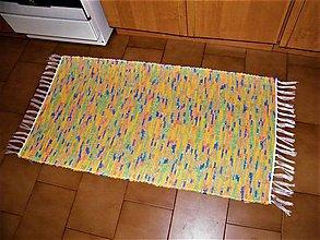 Úžitkový textil - Tkané koberce farebne-melírované 2 ks - 12057223_