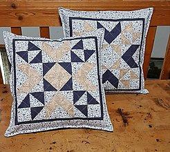 Úžitkový textil - Vankúš  v modrom - 12059313_