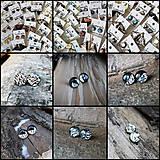 Náušnice - Kruhové napichovačky 10 -12 mm - darček - 12059265_