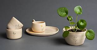 Nádoby - Set šálka a tanier - 12058437_