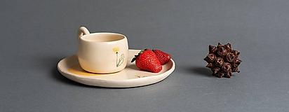 Nádoby - Set šálka a tanier - 12058438_