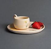 Nádoby - Set šálka a tanier - 12058439_