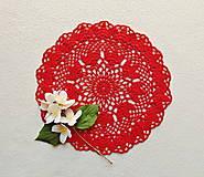 Úžitkový textil - Háčkovaná dečka Červená - 12058128_