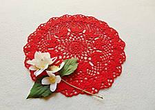 Úžitkový textil - Háčkovaná dečka Červená - 12058133_