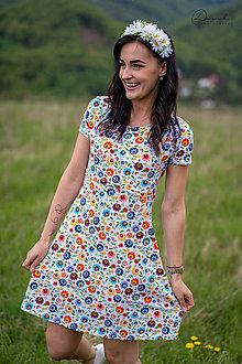 Tehotenské/Na dojčenie - Úpletové šaty na dojčenie - farebný folk - 12057952_