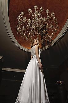 Šaty - Svadobné šaty s holými ramenami v retro štýle SKLADOM - 12059771_