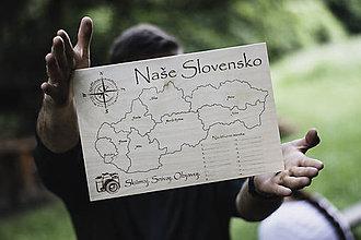 Dekorácie - Mapa cestovateľa malá - 12059011_