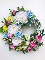 Dekorácie - Celoročný veniec vôňa kvetín - 12059172_