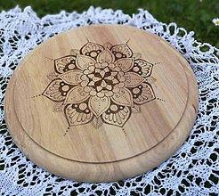 Dekorácie - Drevené denko - ručne zdobené, 25cm - 12058136_