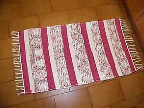 Úžitkový textil - Tkaný koberec červeno-béžovo-hnedý - 12059774_
