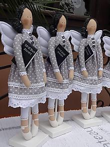 Bábiky - Pani učiteľka - anjelka na podstavci - 12061820_