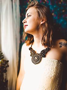 Náhrdelníky - Kaleidoscope necklace - sutaškový náhrdelník - 12061346_