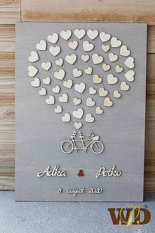 Dekorácie - Svadobný bike - svadobný strom - 12062018_