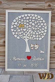 Dekorácie - Svadobný strom 90 ľudí - 12062029_