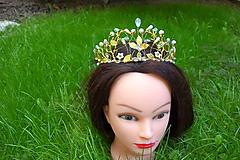 tiara, korunka, čelenka - zlatá